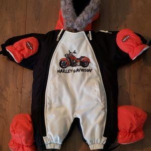 Harley davidson 3-6m baby snowsuit